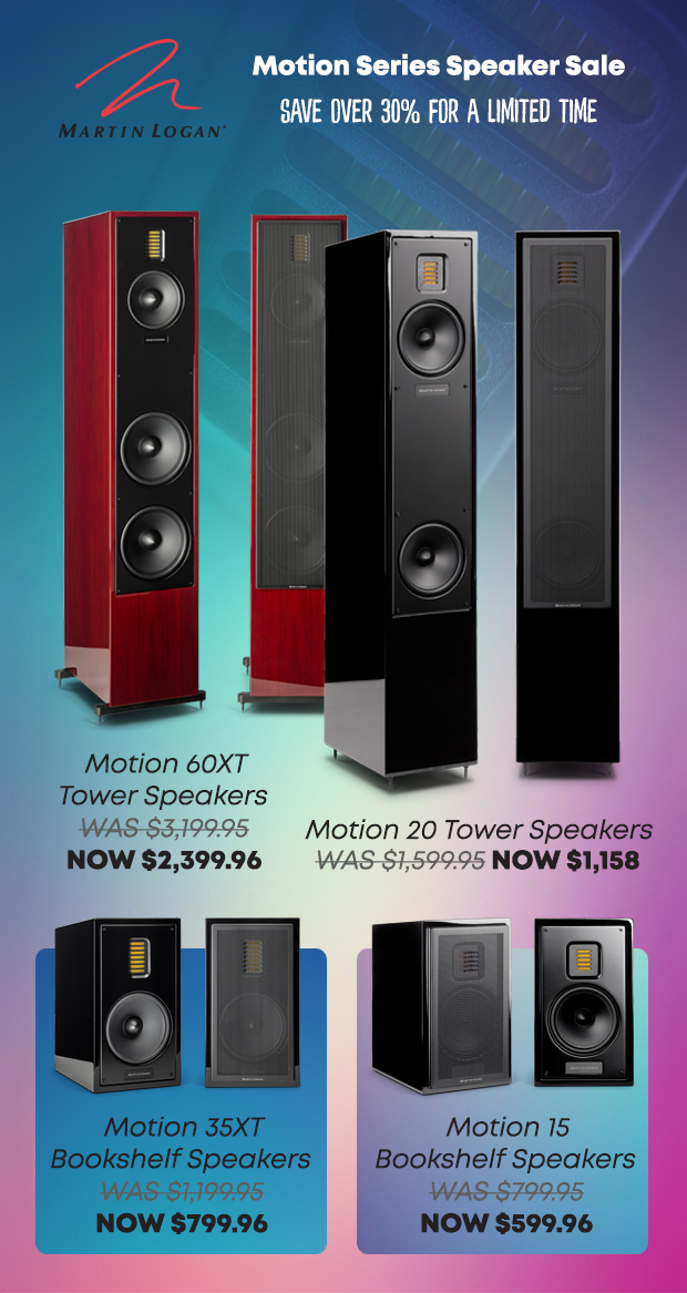 MartinLogan Motion Series Speaker Sale