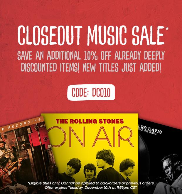 Closeout Music Sale