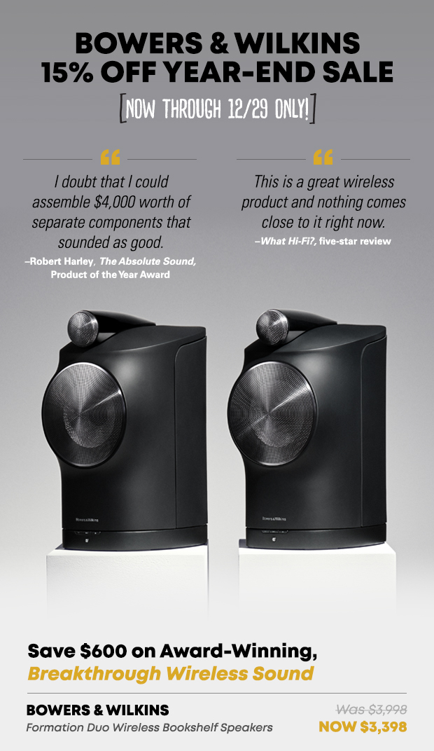 Bowers and Wilkins Sale 1