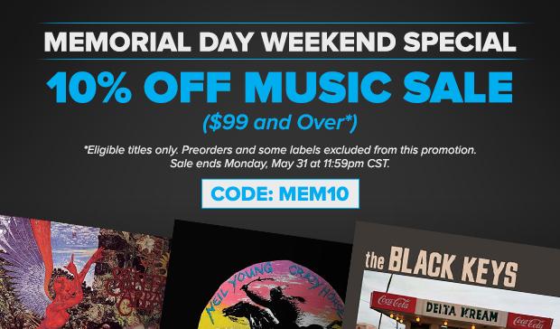 Memorial Day Music Sale